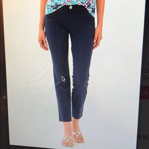 Kelly Textured Ankle Length Skinny Pant
